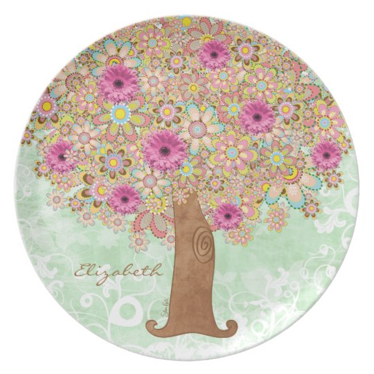 Blossoming Pink Flowers and Tree - plate tba