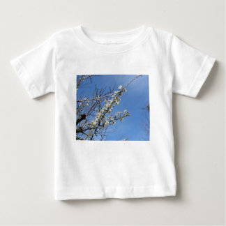 Blossoming plum against the sky . Tuscany, Italy Baby T-Shirt