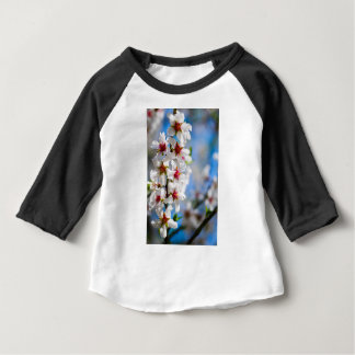 Blossoming tree branch with white flowers baby T-Shirt