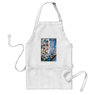 Blossoming tree branch with white flowers standard apron