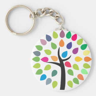 Blossoming tree keychain