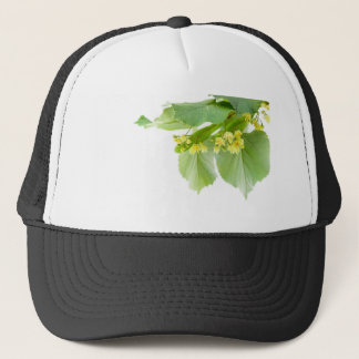 Blossoming twig of limetree or linden tree trucker hat