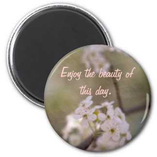 Blossoms 2 Inch Round Magnet