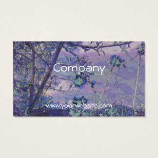 Blossoms Abstract Violet Business Card