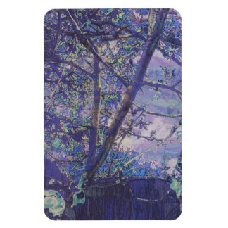 Blossoms Abstract Violet Rectangular Photo Magnet