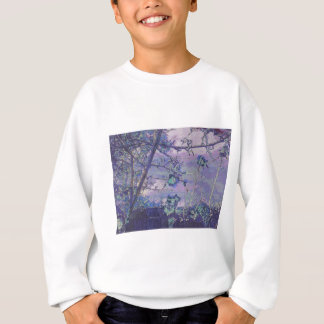 Blossoms Abstract Violet Sweatshirt