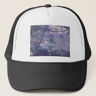 Blossoms Abstract Violet Trucker Hat