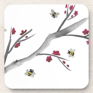 Blossoms and Bees Beverage Coasters