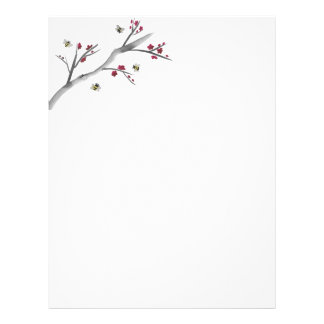 Blossoms and Bees Letterhead Template