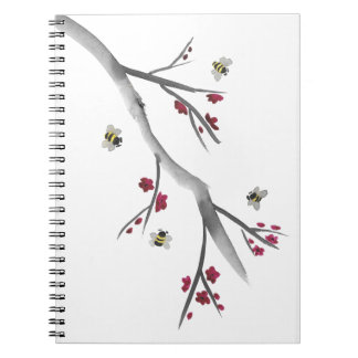 Blossoms and Bees Spiral Note Books