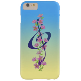 Blossoms and Treble Clef Barely There iPhone 6 Plus Case