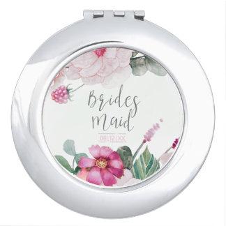 Blossoms & Berries Bridesmaid Raspberry ID476 Vanity Mirror