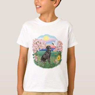 BLossoms - Black Labrador T-Shirt