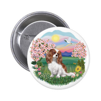 Blossoms - Blenheim Cavalier 2 Inch Round Button