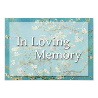 Blossoms In Loving memory Funeral Announcement