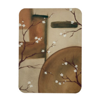 Blossoms Magent Rectangular Photo Magnet