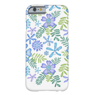 Blossoms of Blue Barely There iPhone 6 Case