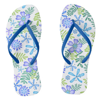 Blossoms of Blue Flip Flops