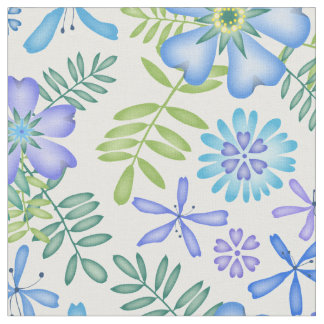Blossoms of Blue Two Fabric