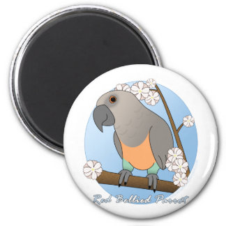 Blossoms Red Bellied Parrot Magnet