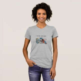 Blouse gray color for lovers of the design T-Shirt