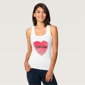 Blouse heart tank top