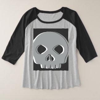 Blouse Plus Size Skull Plus Size Raglan T-Shirt
