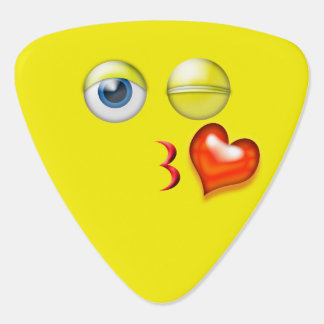Blow A Kiss Emoji Guitar Pick