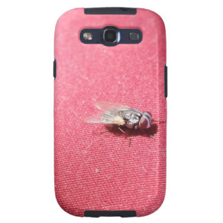 Blow fly insect on red galaxy s3 cases