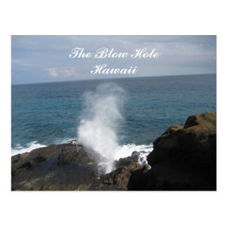 Blow hole, The Blow Hole, Hawaii post card