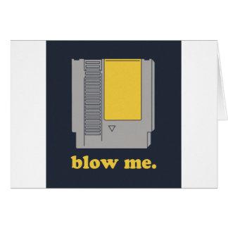 Blow me card
