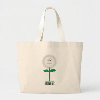 Blow me dandelion large tote bag