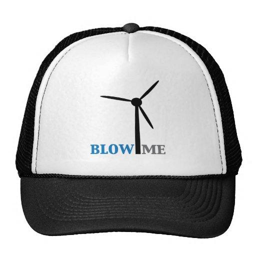 blow me wind turbine trucker hats
