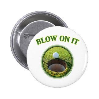 Blow On It Golf 2 Inch Round Button