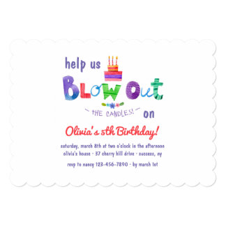 Blow Out The Candles Invitation