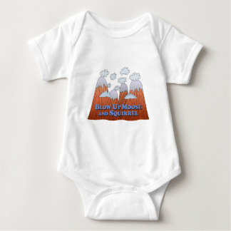 Blow Up Moose and Squirrel - Dark Baby Bodysuit