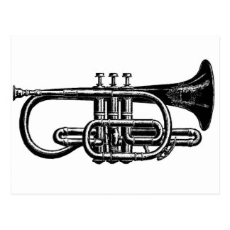 Blow your Horn: Imperial Cornet Musical Instrument Postcard