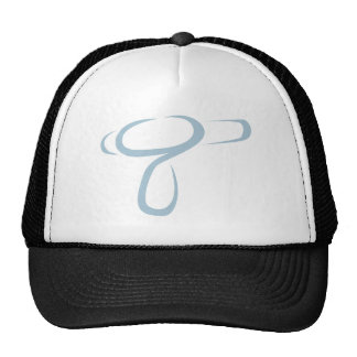 Blowdryer for Hairdresser's Logo in Swish Drawing Trucker Hat