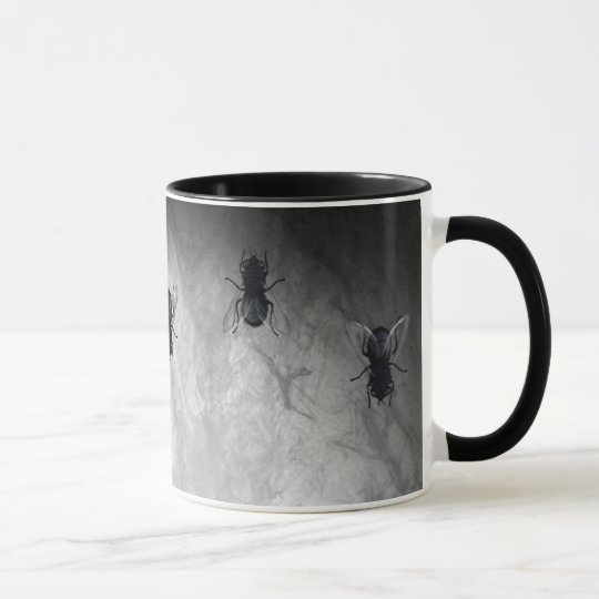 Blowflies on the Wall (Slate Grey) Mug
