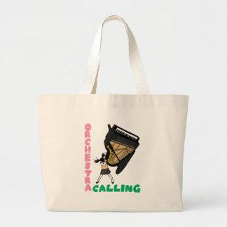 Blowing easy crash _piano large tote bag