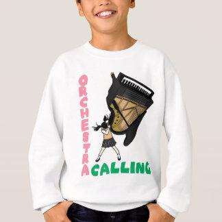 Blowing easy crash _piano sweatshirt
