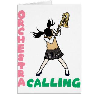 Blowing easy crash _saxophone card