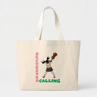 Blowing easy crash _violin large tote bag