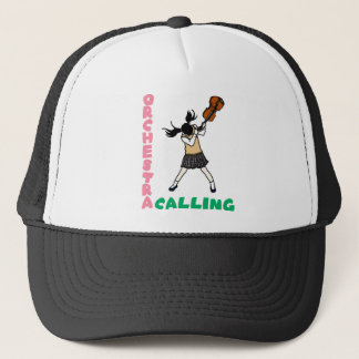 Blowing easy crash _violin trucker hat