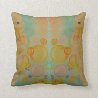 blowing kisses throw pillow