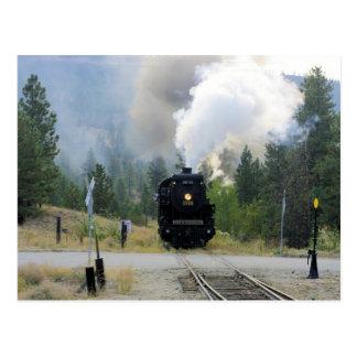 Blowing off Steam - Engine 3716 Postcard