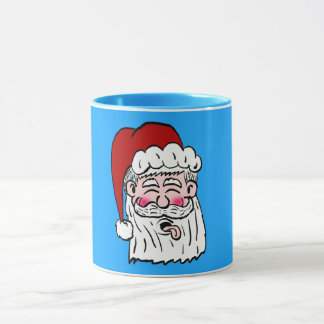 Blowing Raspberry Santa Mug