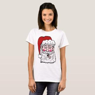 Blowing Raspberry Santa Shirt