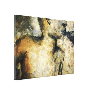 blowing smoke canvas print