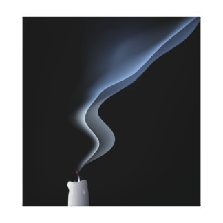 blown out candle gallery wrap canvas